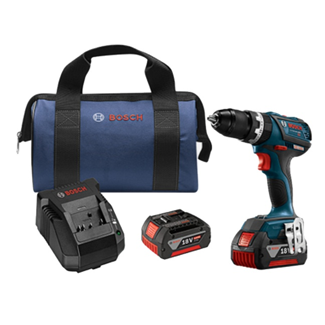 "Bosch HDS183-01 18V Brushless Compact Tough 1/2"" Hammer Drill Driver Kit"
