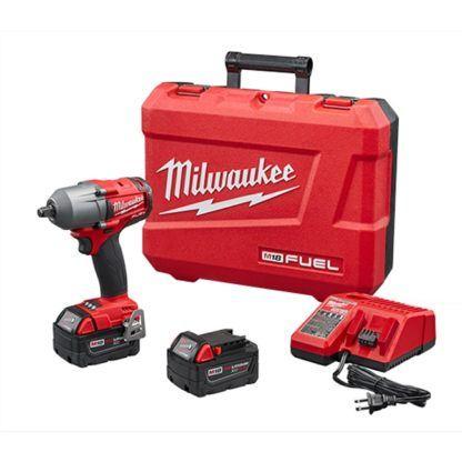 "Milwaukee 2861-22 M18 FUEL 1/2"" Mid-Torque Impact Wrench Kit"