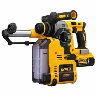 "Dewalt DCH273P2DH 20V Max Xr Brushless 1"" L-Shape SDS Plus Rotary Hammer Kit with On Board Dust Extractor"