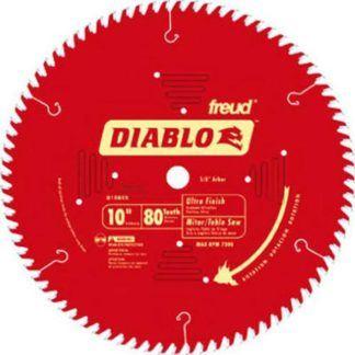 """Freud D1080X 10"""" x 80T Ultra Fine Finish Blade"""