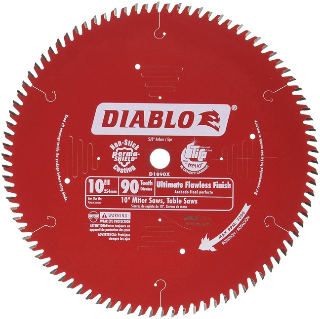 "Freud D1090X 10"" x 90T Ultimate Flawless Finish Blade"