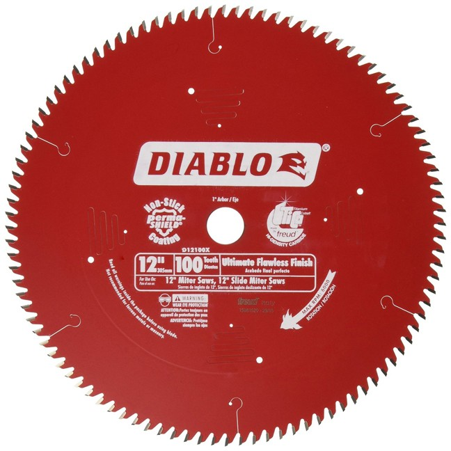 "Freud D12100X 12"" x 100T Ultimate Flawless Finish Blade"