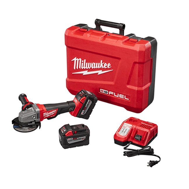 "Milwaukee 2780-22HD M18 FUEL 4-1/2""/5"" Grinder Paddle Switch No-Lock High Demand Kit"