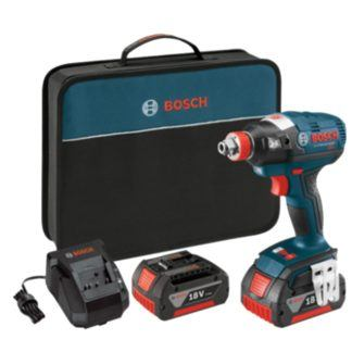 "Bosch IDH182-01 18V EC Brushless 1/4"" and 1/2"" Socket-Ready Impact Driver"