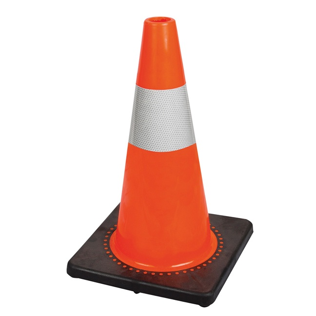 "Pioneer 181N 18"" Premium PVC Flexible Safety Cone"