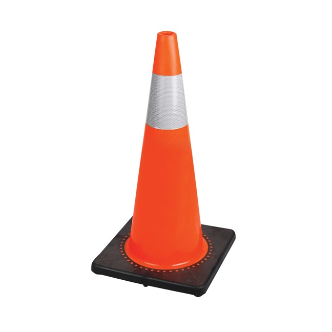 "Pioneer 183N 28"" Premium PVC Flexible Safety Cone"