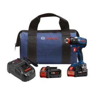 "Bosch IDH182-B24 18V EC Brushless 1/4"" and 1/2"" Socket-Ready Impact Driver Kit"