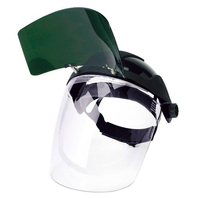 Sellstrom S32151 Face Shield with Flip-Up IR Window & Ratcheting Headgear