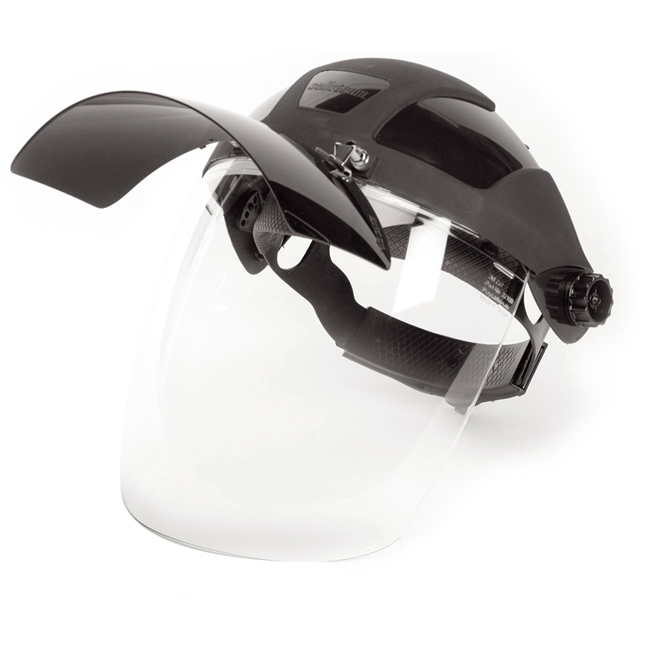 Sellstrom S32181 Face Shield with Flip Up IR Window & Ratcheting Head Gear