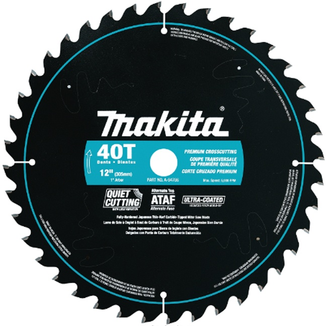 "Makita A-94786 12"" 40T Ultra-Coated Mitre Saw Blade"