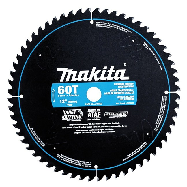 "Makita A-94792 12"" 60T Ultra-Coated Mitre Saw Blade"