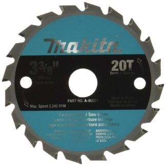 "Makita A-95021 3-3/8"" 20T Carbide Saw Blade"