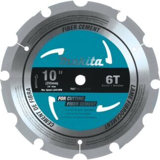 "Makita A-95130 10"" 6T Fibre-Cement Miter Saw Blade"