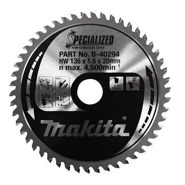 "Makita A-95940 5-3/8"" 50T Carbide Aluminum Cutting Saw Blade"