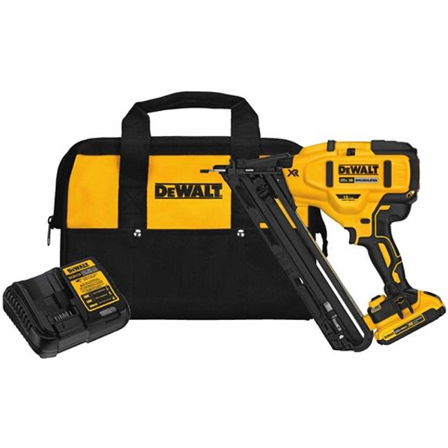 Dewalt Dcn650d1 20v 15ga Angled Finish Nailer Kit Bc