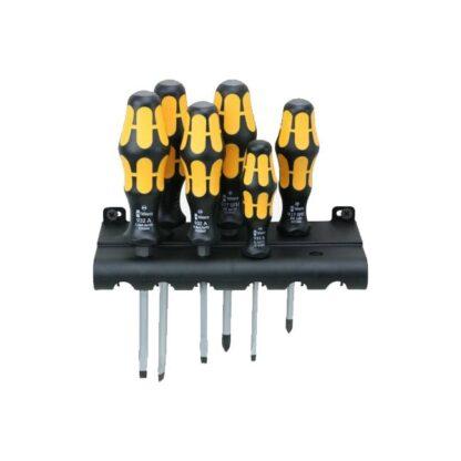 Wera 018282 Kraftform Plus Slotted Phillips Screwdriver Set and Rack