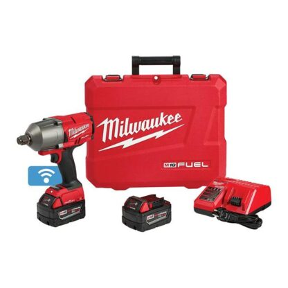 """Milwaukee 2864-22 M18 FUEL High Torque Impact Wrench 3/4"""" Friction Ring with ONE-KEY Kit"""