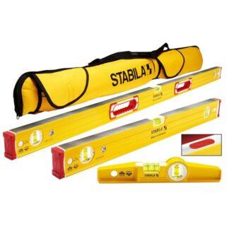 """Stabila 48380 196 Magnetic Level Set - 48""""/24"""" Torpedo and Case"""