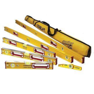 """Stabila 78496 196 Level Set Kit 78""""/48""""/32""""/24""""/16"""" Torpedo & Case"""