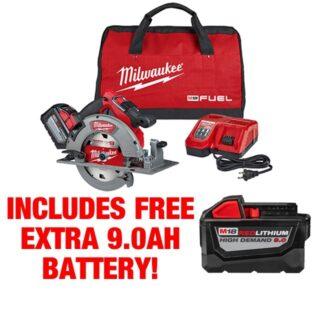Milwaukee 2732-21HD M18 FUEL Circular Saw Kit FREE BATTERY