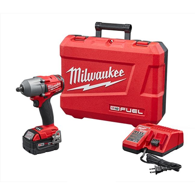 """Milwaukee 2860-21 M18 FUEL 1/2"""" Mid-Torque Impact Wrench with Pin Detent Kit"""